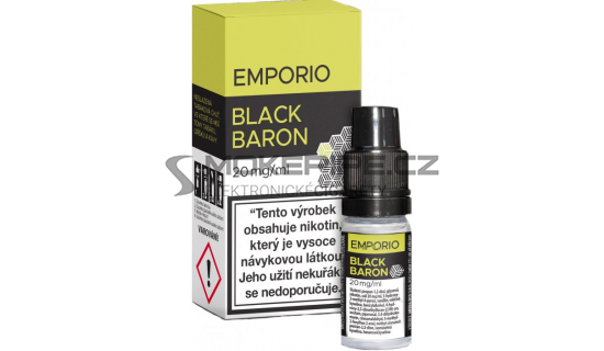 Liquid Emporio Salt: Black Baron (Černý rybíz s karamelem a tabákem) 10ml - 20mg