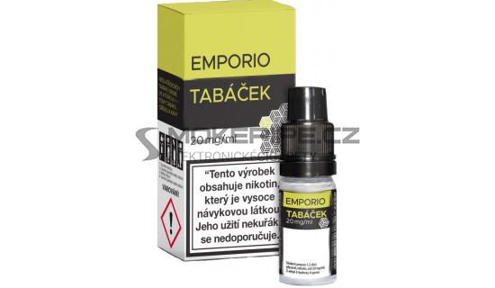 Liquid Emporio Salt: Tabáček (Tabáková směs) 10ml - 20mg