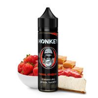 Příchuť Monkey Shake & Vape: Royal Cheese (Jahodový cheesecake s karamelem) 12ml