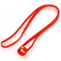 Univerzální silikonová šňůrka na krk pro e-cigarety (19mm - 22mm) - Červená